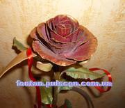 Кованые розы сувениры и подарки для девушки Кованая роза Кована троянд