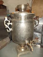 Самовар и нагреватель для чая,  б у в рабочем состоянии.