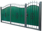 Ворота распашные гаражные. Калитки.Безплатная достака по Запорожью.